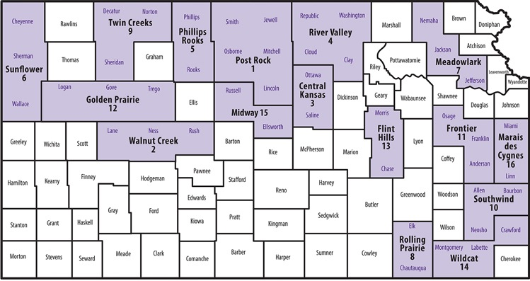CountyDistrict Staff About Family And Consumer Sciences - Kansas state map