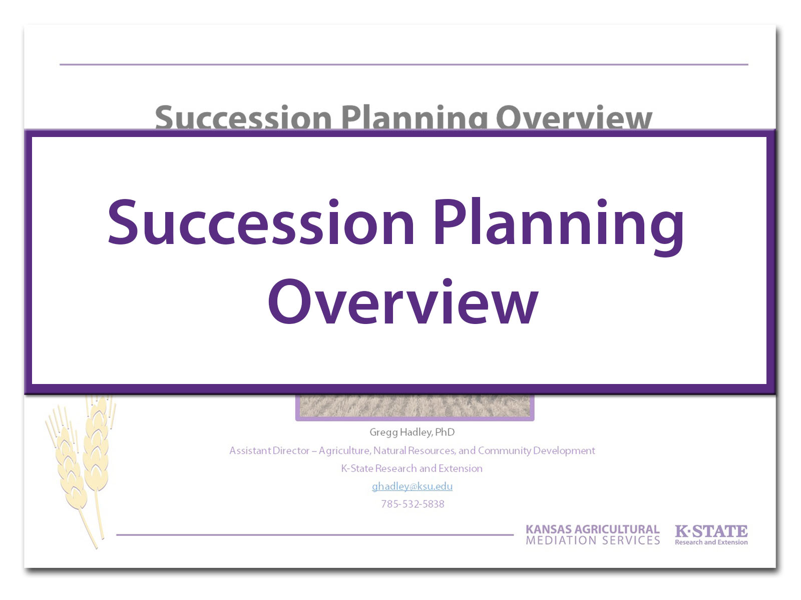 Succession Overview