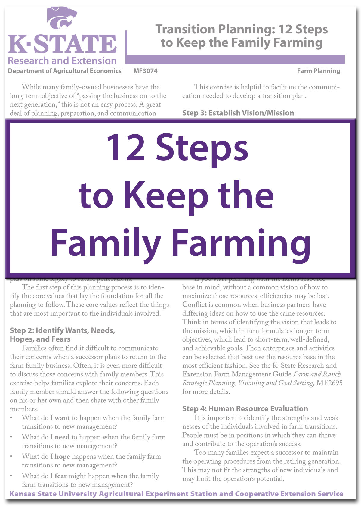 12 Steps to Keep the Family Farming