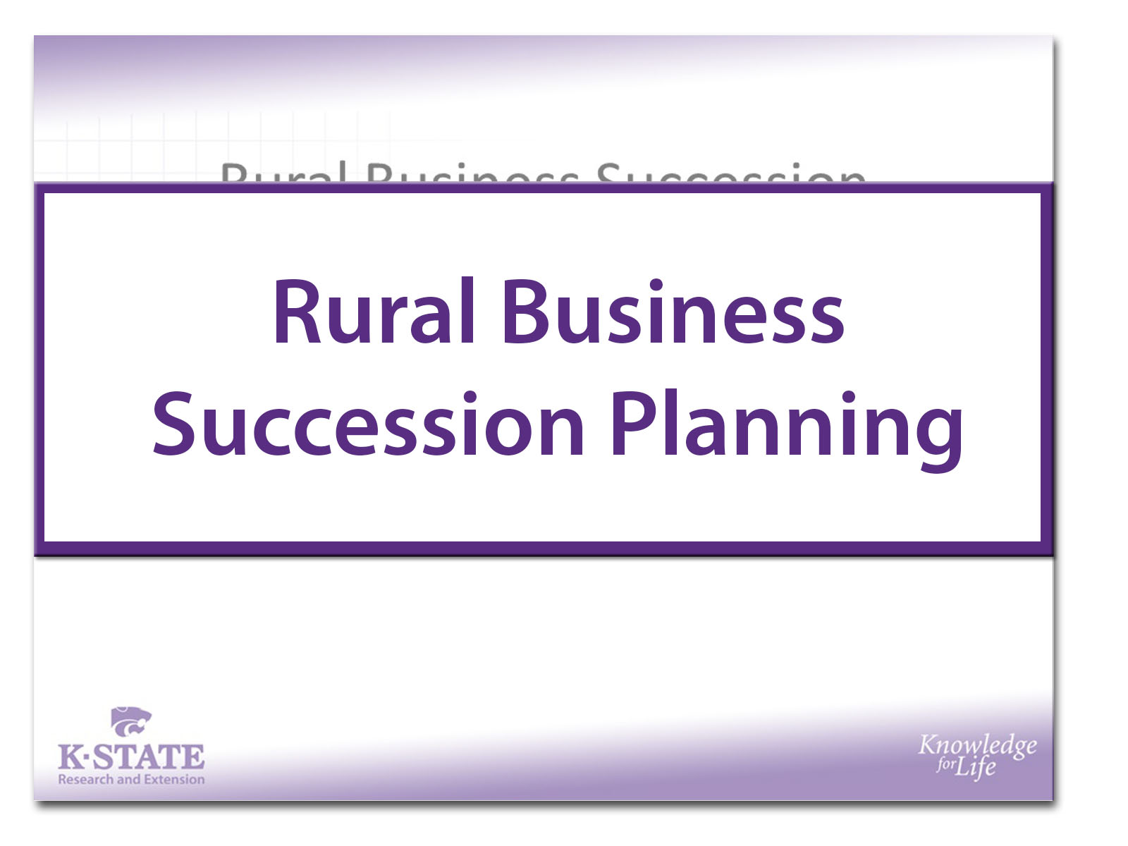 Rural Business Succession Planning