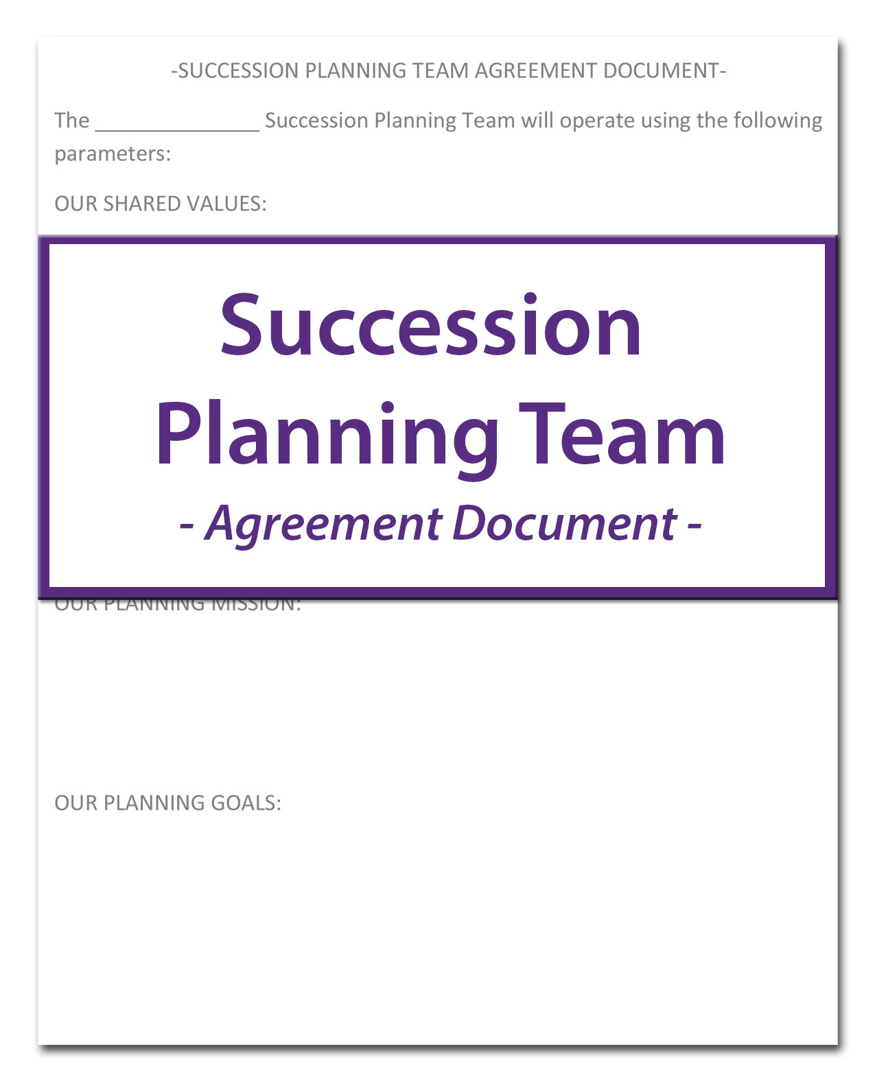 Succession Planning Agreement
