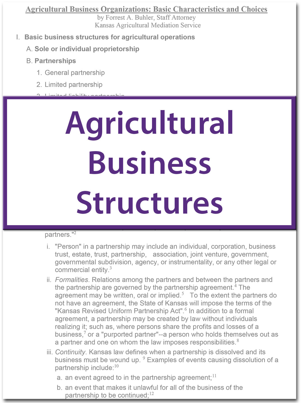 Ag Business Structures