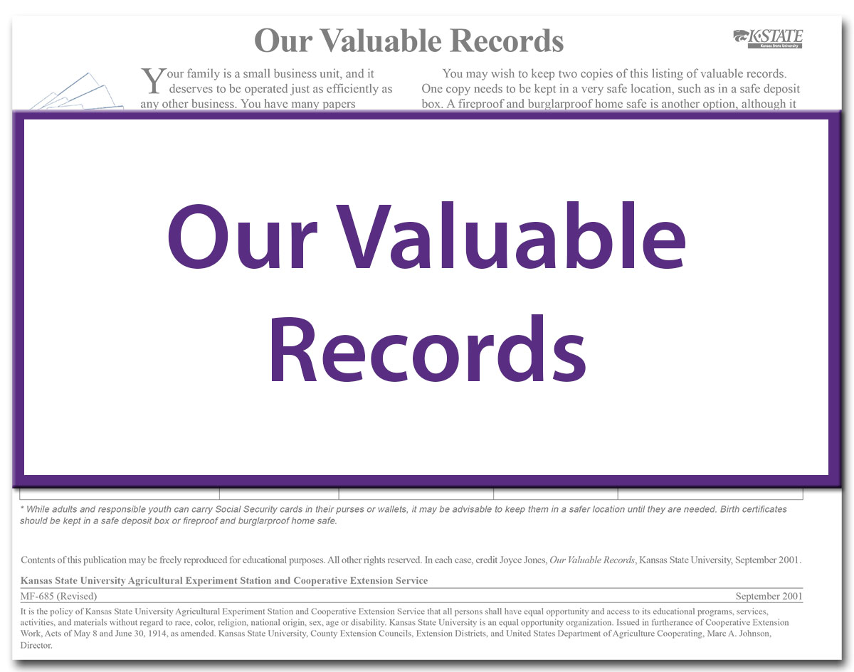 Our Valuable Records