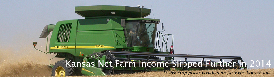 Kansas Net Farm Income Slipped Further in 2014
