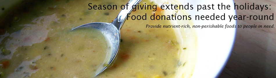 Season of giving extends past the holidays: Food donations needed year-round