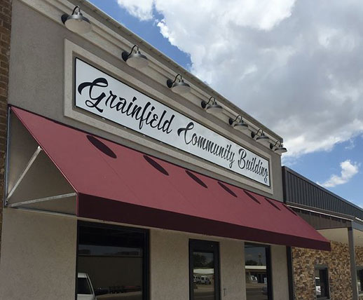 Grainfield Kansas community building