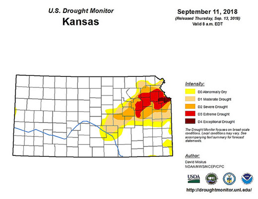 Late summer rain eased drought in parts of Kansas, but northeast ...