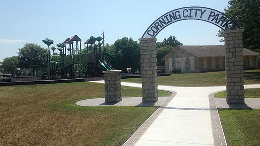 City Park in Corning, Kansas