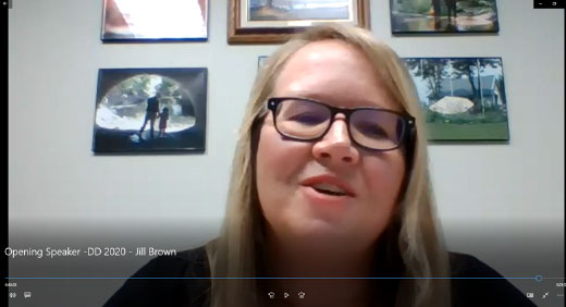 Woman presenting webinar during 4-H Discovery Days, Jill Brown