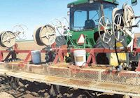 Dripline injector rig and spools